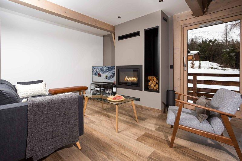 Moderne Wohn-und Log-Kamin