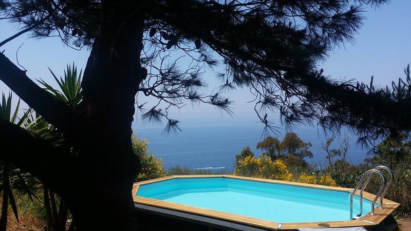 romantic getaway lipari island pool sea view, vacation rental in Aeolian Islands