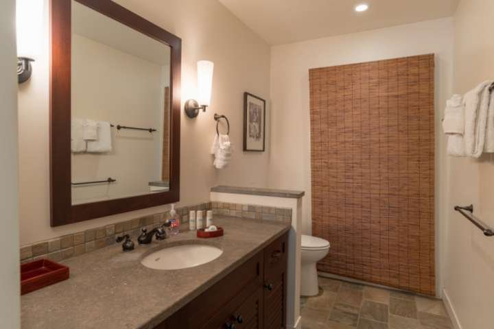 Stone and tile bathrooms - there are large bathrooms in C-108