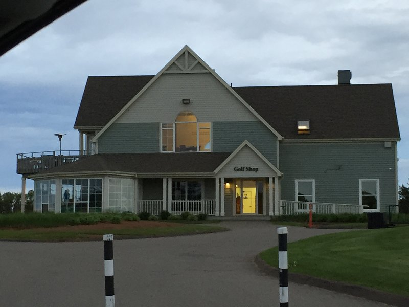 Crowbush Golf Course Clubhouse. A beautiful links course approx 20 m