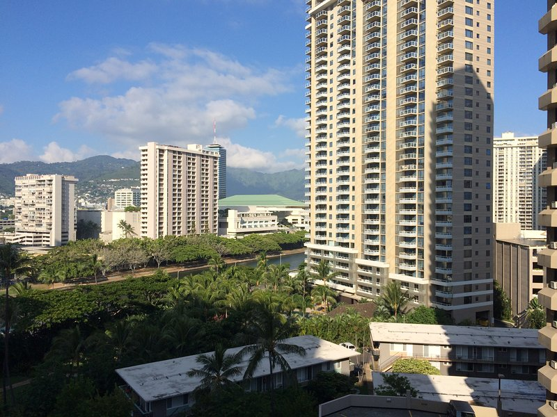 View of the mountain and the Ala Wai Canel  from both Bedrooms