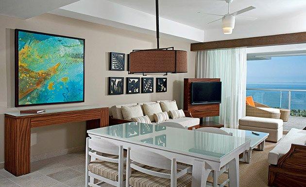 área de estar central da suite