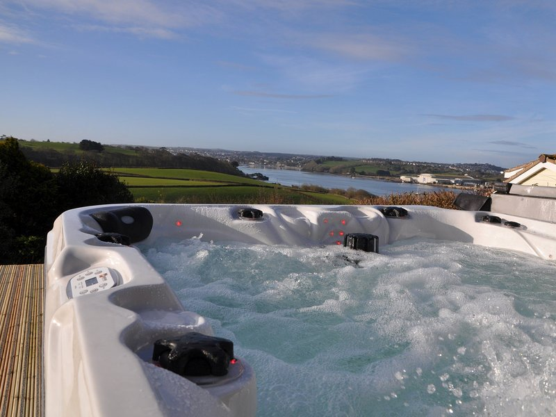 Enjoy the spectacular views from the hot tub