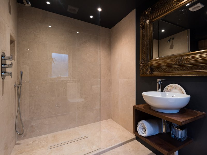 Spacious shower room with stylish touches