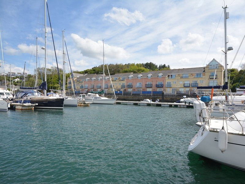 View towards the property over the marina
