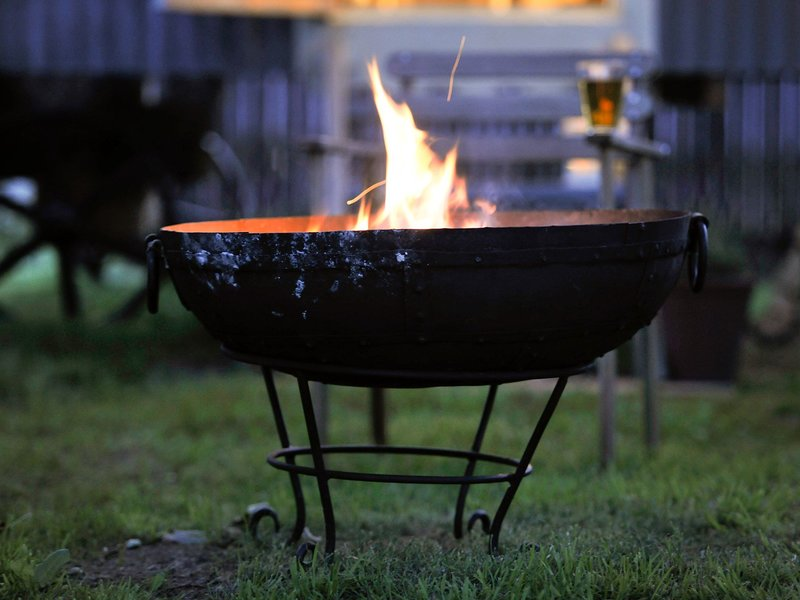Cosy up next to the fire pit
