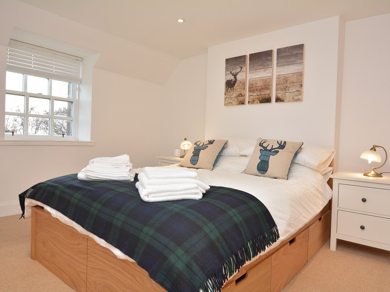 Lovely king-size bedroom with wonderful countryside views