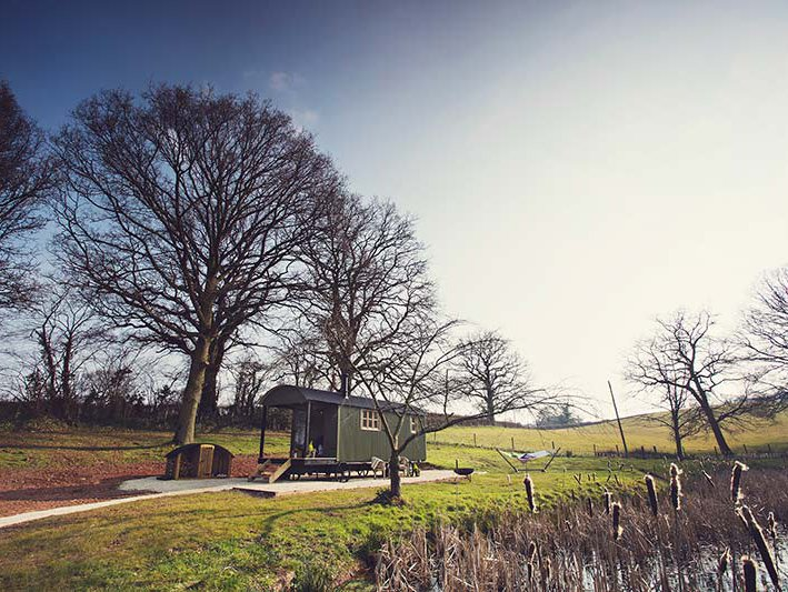Situado no interior bela paisagem Monmouthshire
