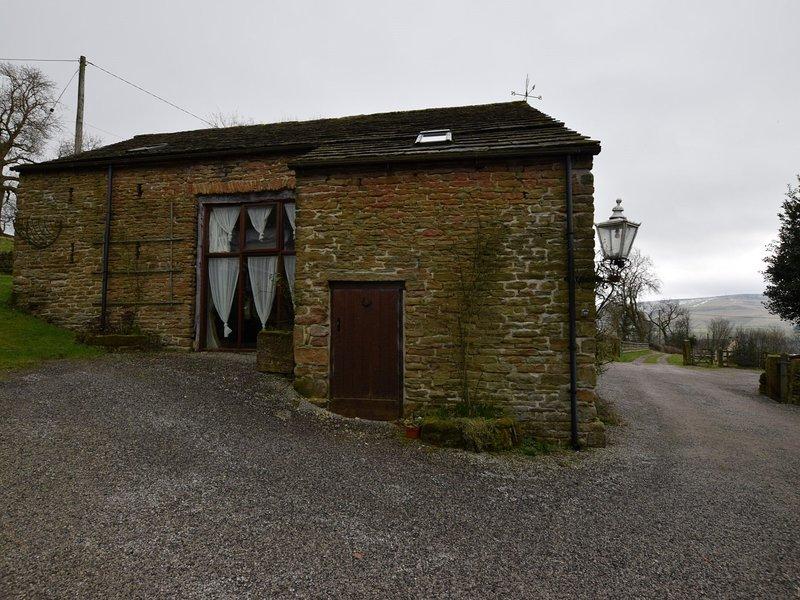 Bela casa de campo e vistas de longo alcance