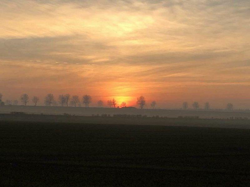 Een schitterende zonsondergang