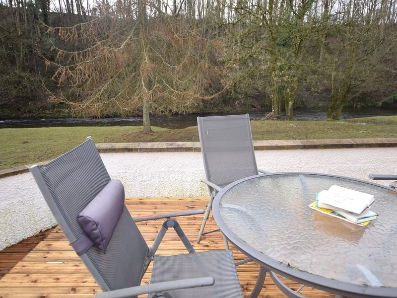 Sit and relax on the raised decking watching the wildlife