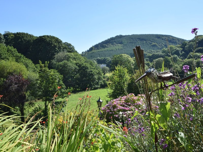 View over garden from the property