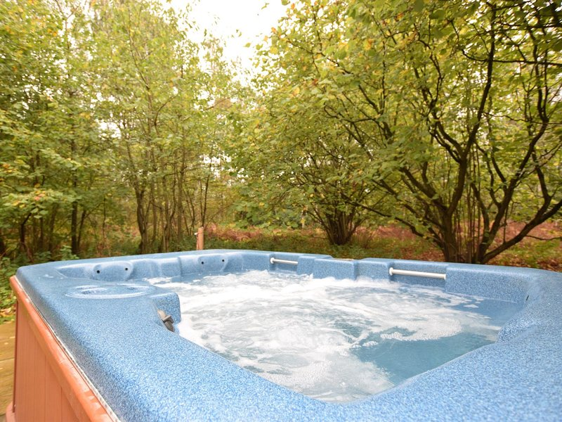 Relax in the hot tub,so close to nature
