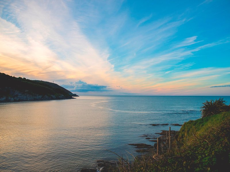 Bel tramonto vista sulla vicina baia