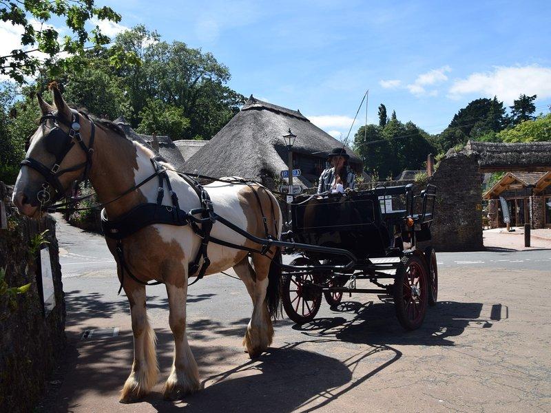 Enjoy a horse and carriage trip around this idyllic village