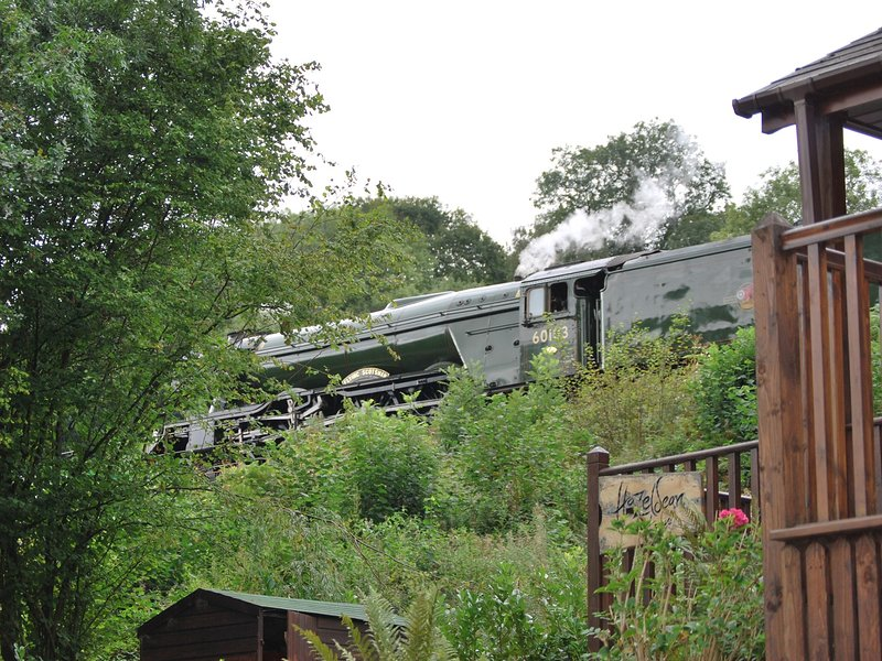 The Flying Scotsman on its annual visit seen from the property