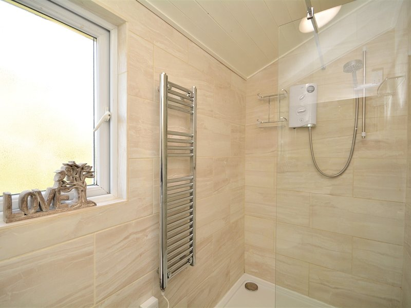 Shower room with homely touches
