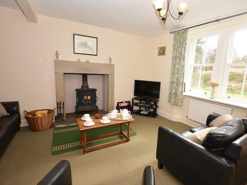 Comfortable lounge with woodburner