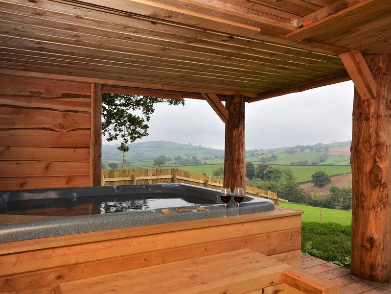 Private hot-tub in a rural setting