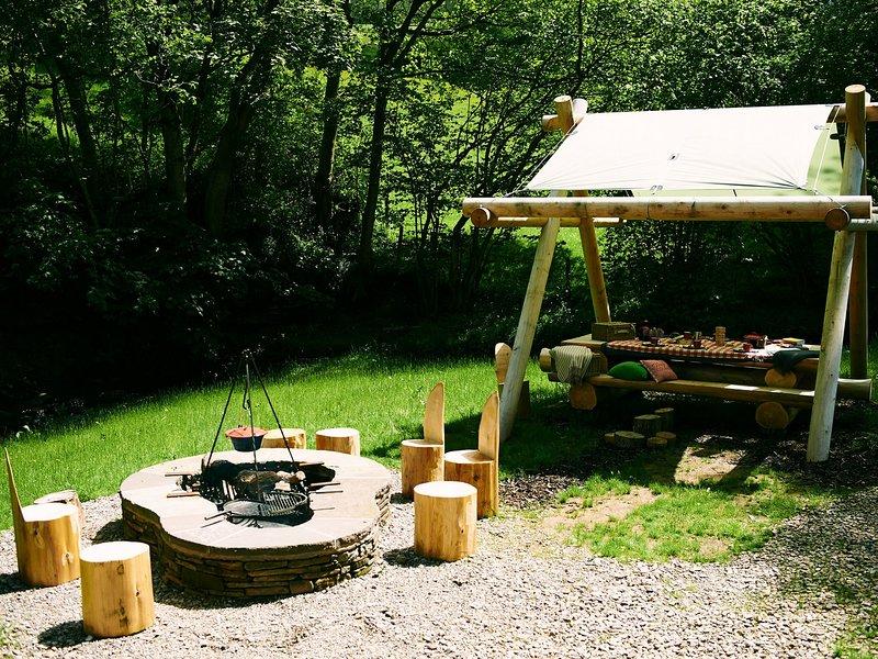 área de cocinar al aire libre