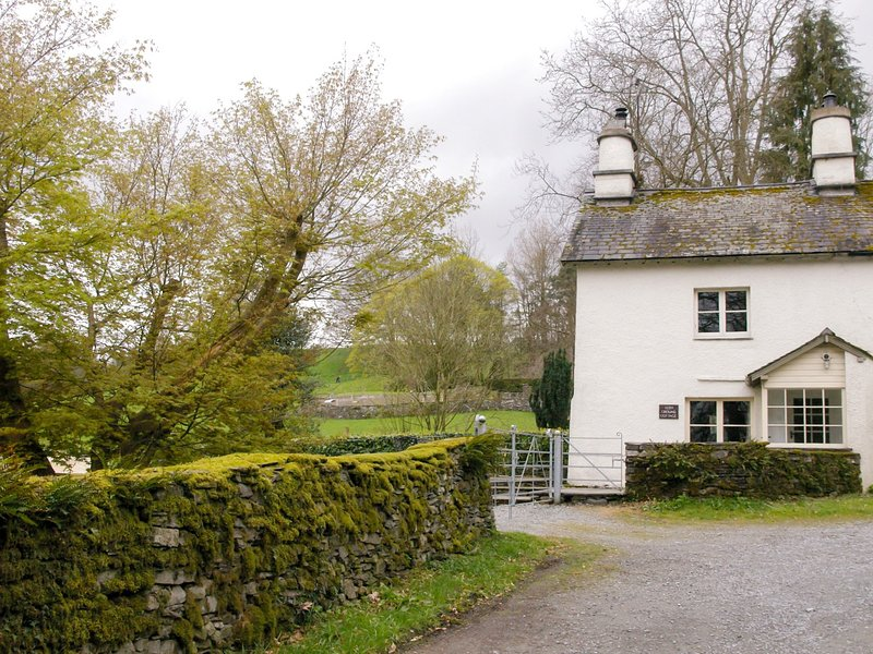 The cottage is set on a quiet lane just outside the village