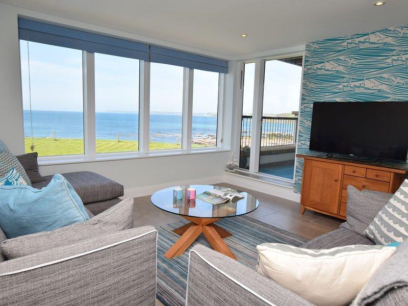 sala de estar con vistas al mar