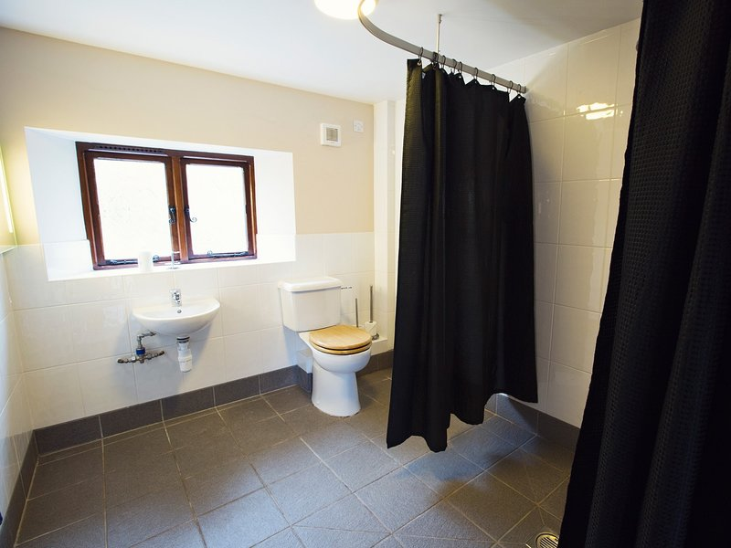 The downstairs wet room,designed with wheelchair users in mind