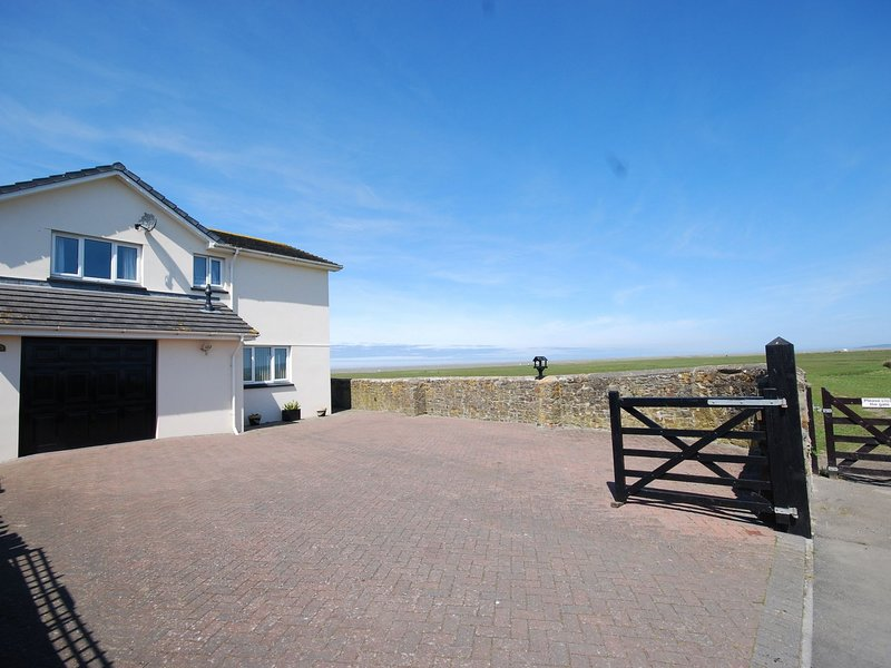 View towards the property with sea views