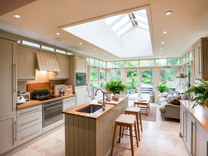 Cook up a storm in the stylish kitchen