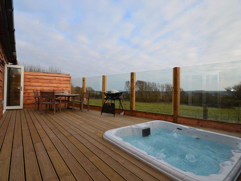 terrasse fermée avec bain à remous