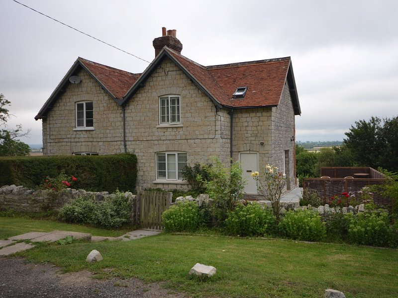 Looking towards the delightful stone cottage
