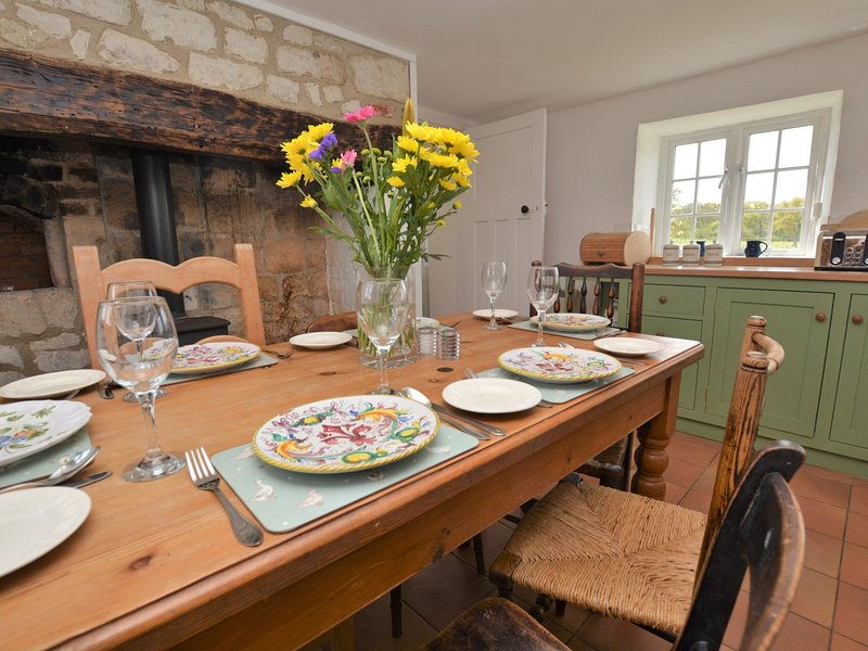 Enjoy a meal in the country kitchen