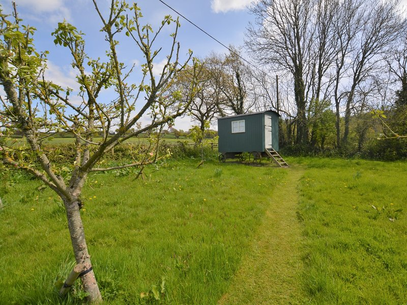 Pretty orchard leading to the Shepherds Hut