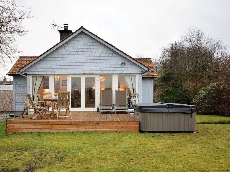 Jardin avec terrasse et bain à remous