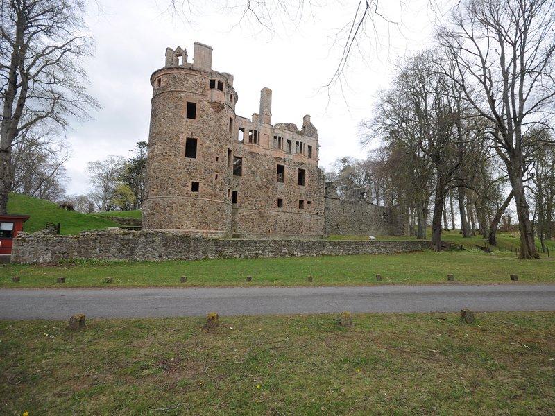 Huntly castle nearby
