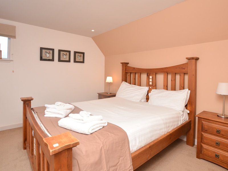 Lovely king-size bedroom with wonderful views over Loch Earn