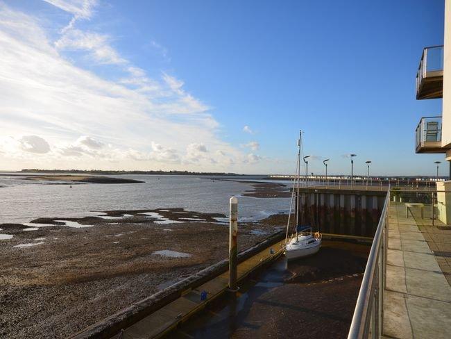 Uitzicht over Brightlingsea Harbour