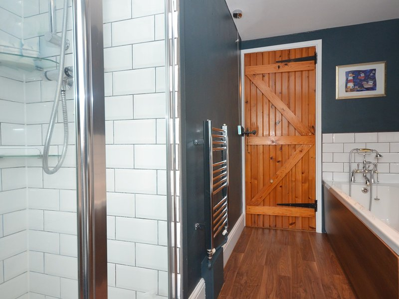 Contemporary bathroom with separate shower