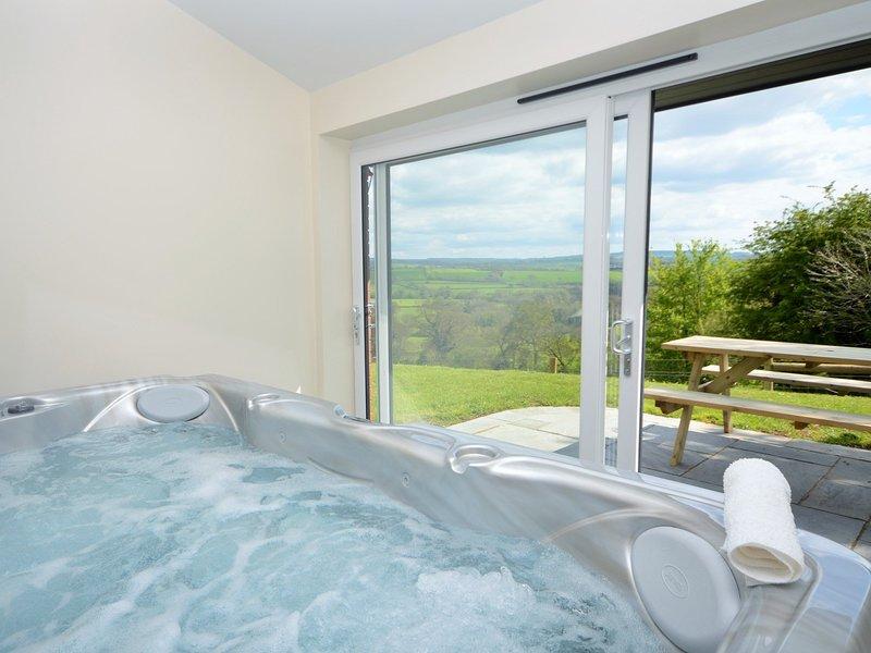 Hot tub with panoramic views