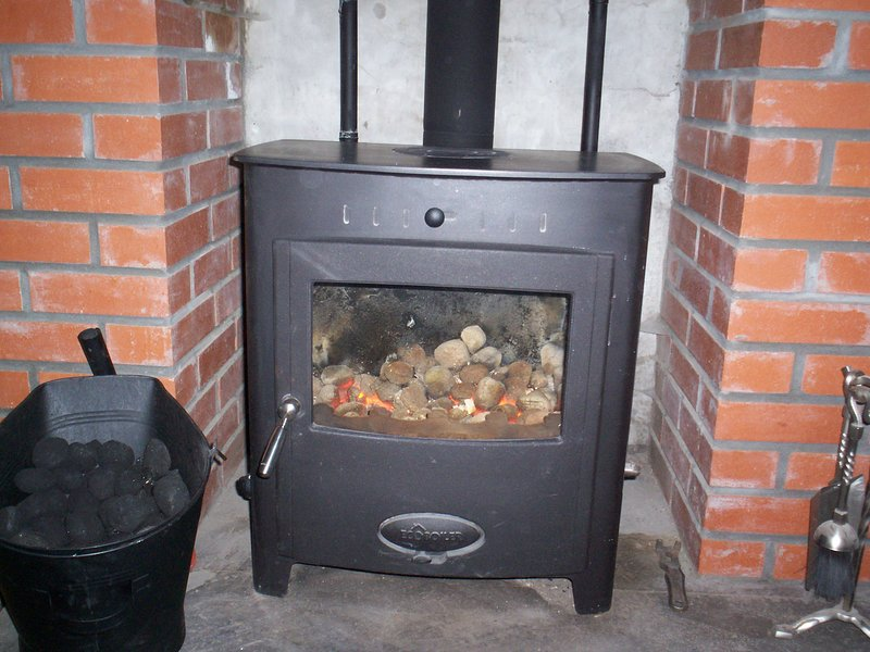 multifuel stove for a cosy night in.  With coal and logs included in the rental