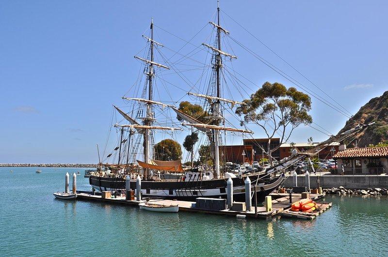 Voir navires historiques comme le Pèlerin à Dana Point.