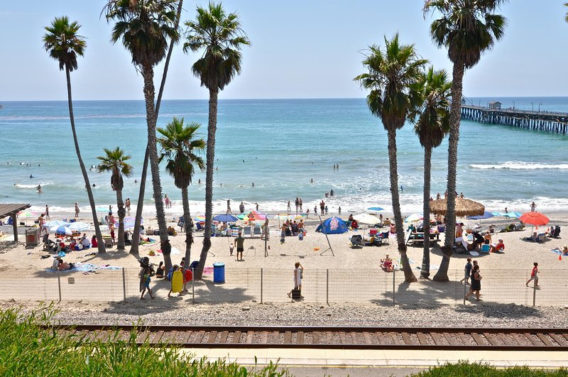 San Clemente beach and pier, just a short walk from this vacation home!
