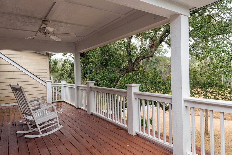 The partially covered deck is accessible from the 2nd and 3rd bedrooms.