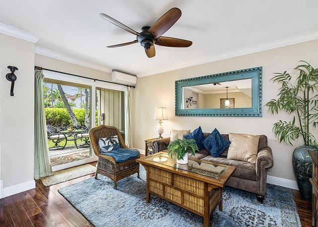 Beautifully decorated Living room with A/C! (fees apply)
