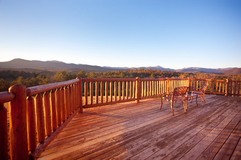 Our mountain-view deck