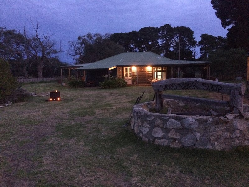 Roolagoon Homestead surrounded by natural vegetation and vast lawns;KI's only wood turner adjacent