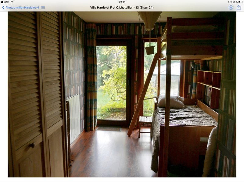 Bedroom 4 with 2 bunk beds of 90, very comfortable bedding classic