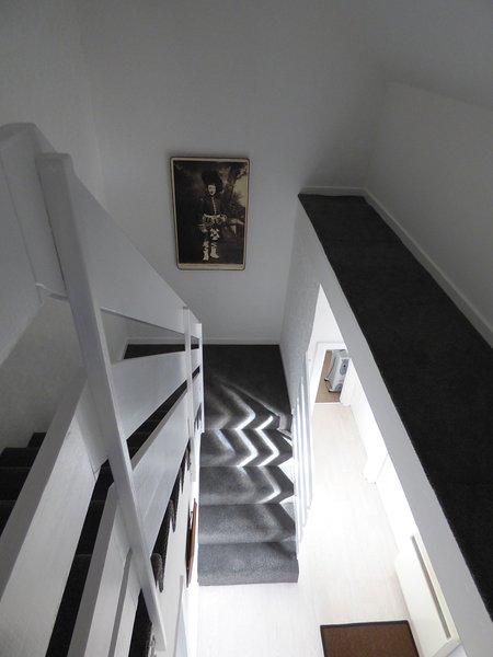 Das kürzlich renovierte Treppenhaus