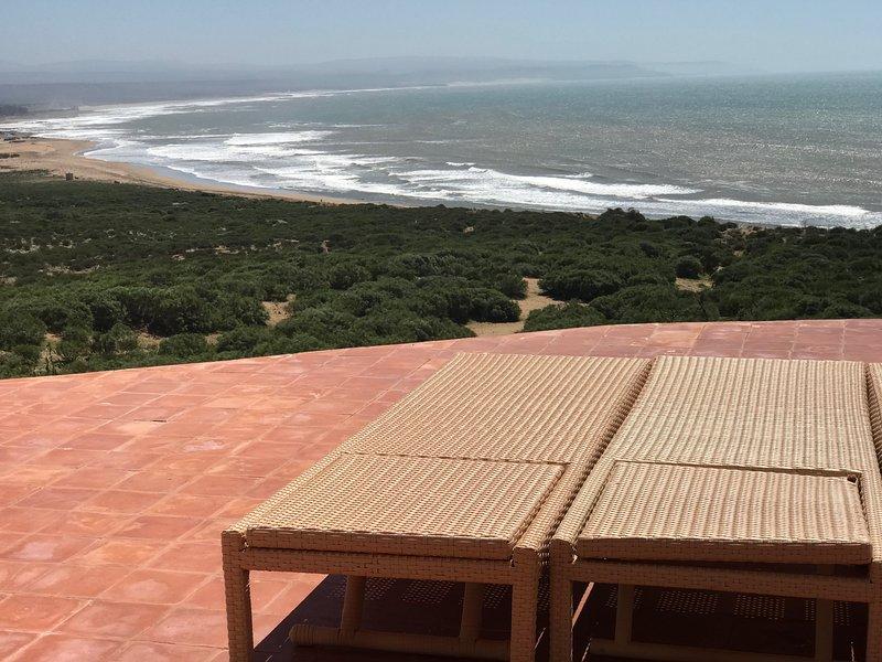 Terrace overlooking the Atlantic Ocean