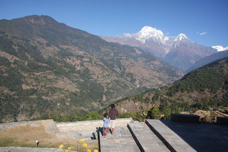 Vista del Annapurna Sud e Himchuli